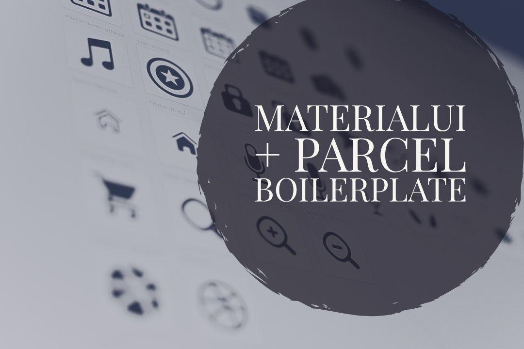 MaterialUI + Parcel boilerplate