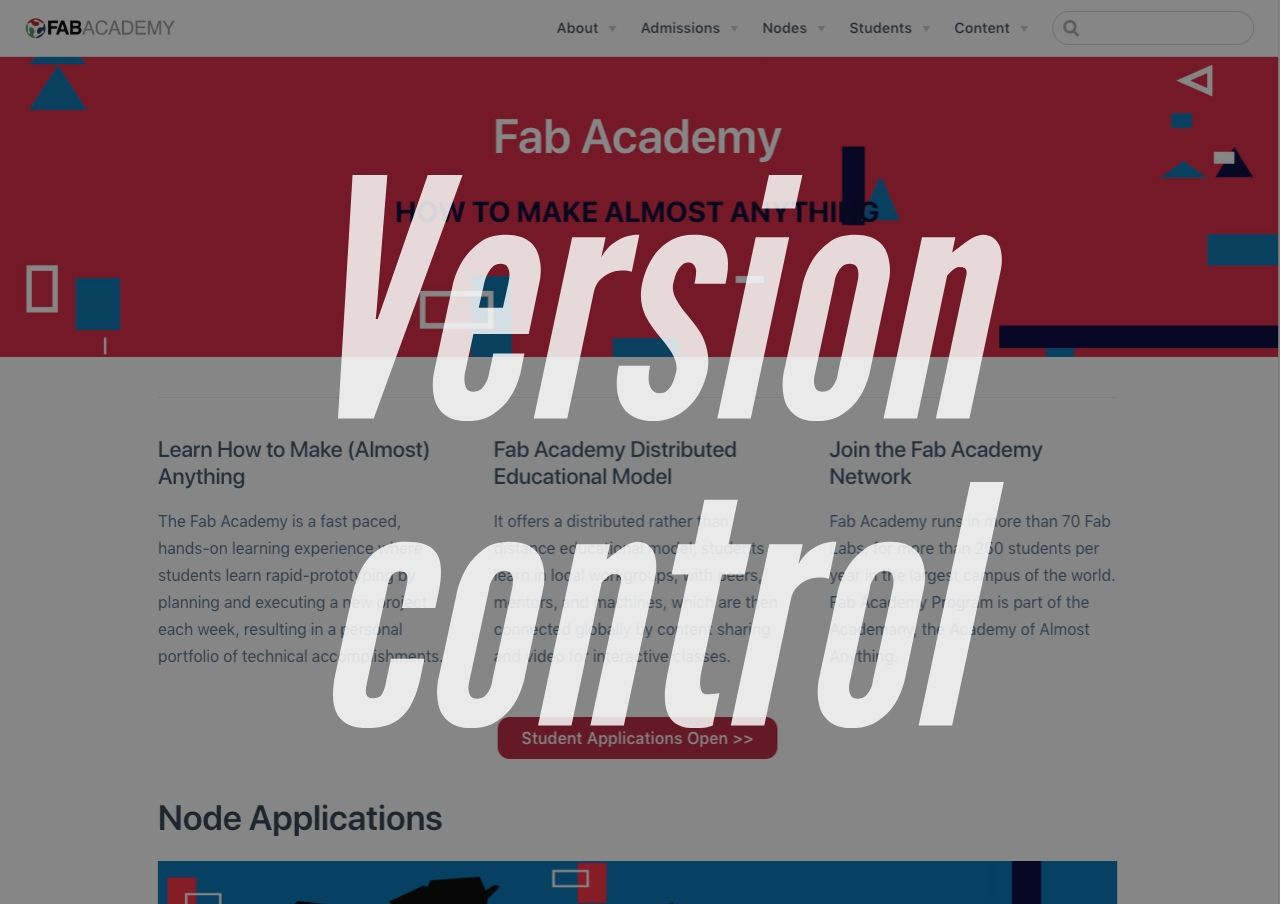 Fab Academy 2019: Recitation on Version Control